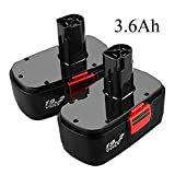 [Upgraded 3600mAh] 2 Packs Replacement for Craftsman 19.2 Volt Battery C3 DieHard Ni-Mh130279005 315.113753 315.115410 315.11485 1323903 120235021 130235021 11375 11376 19.2V Cordless Drill Batteries