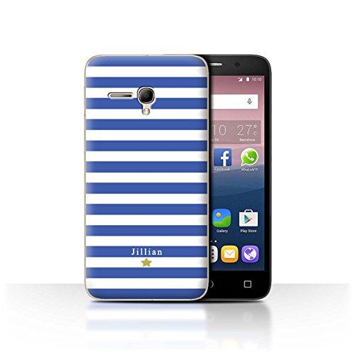 Stuff4Phone Case/Cover/Skin/alcpop355/Custom Stripes/Striped Collection Étoile Rayure Bleu