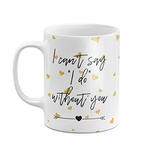 312 ml Kaffeetasse Tasse Tassen Weißer Keramik Ehrendame Brautjungfern Junggesellenabschied Maid Of Honor Bridesmaid Hen Party Bride Squad Einzigartiges Geschenk zum Bester Freund Schwester