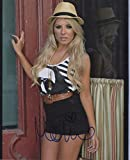 Mollie King Signed Autograph Sexy Shot Saturdays Singer in Fedora 8x10 Photo COA