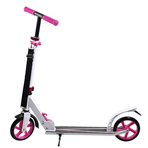 Geelife Scooters for Kids 2 Wheel Folding Kick Scooter for Adults Teens Youths Boys Girls (Pink)