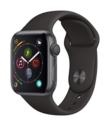 Apple Watch Series 4 (GPS, 40mm) Aluminiumgehäuse Space Grau - Sportarmband Schwarz