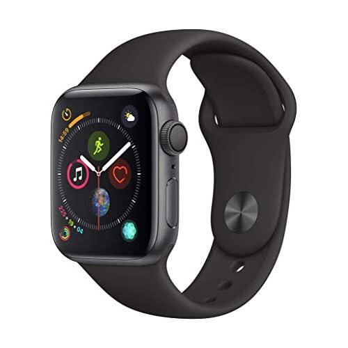 Apple Watch Series 4 (GPS, 40mm) Cassa in Alluminio Grigio Siderale e Cinturino Sport Nero