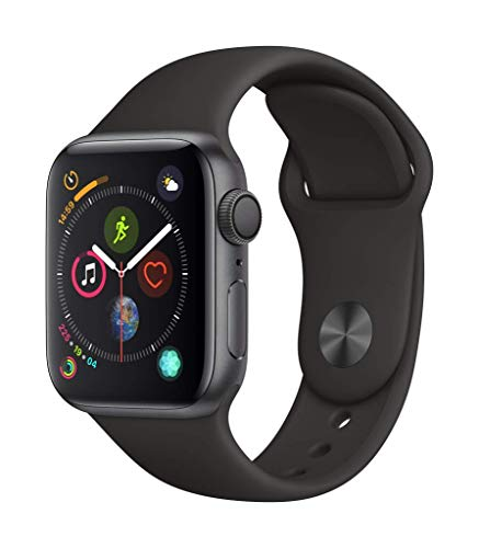 Apple Watch Series 4 (GPS, 40mm) Aluminio en Gris Espacial - Correa Deportiva Negro