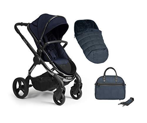 iCandy Pushchair Carrycot with Bag Duo Pod, Phantom Navy Check