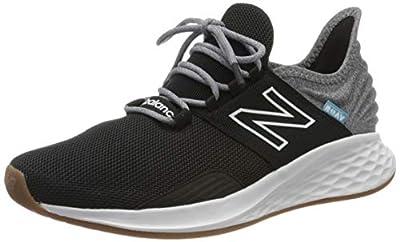 New Balance Men's Fresh Foam Roav V1 Sneaker, Black/Light Aluminum, 10 M US from New Balance