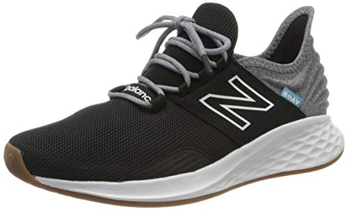 New Balance Men's Fresh Foam Roav V1 Sneaker, Black/Light Aluminum, 12 M US