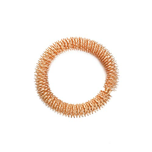 Healifty Akupunktur Armband Massage Akupressur Ringe Sport Armband für Handgelenk Erwachsene Kinder (golden)