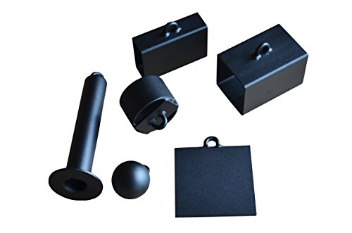 OFG Pinch Grip 6 Set Block Grip Cannon Ball Hub Plate Loading Pin for Strength Exercise Training in Gripping Wrist Forearm and Strongman Climbing Power Lifting Gymnastics Black Powder Coated Steel