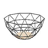 AmazonBasics - Cesto per la frutta in filo metallico, con base in legno