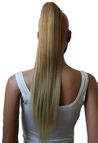 PRETTYSHOP 60cm Haarteil Zopf Pferdeschwanz Haarverlängerung Glatt Blond Mix H614