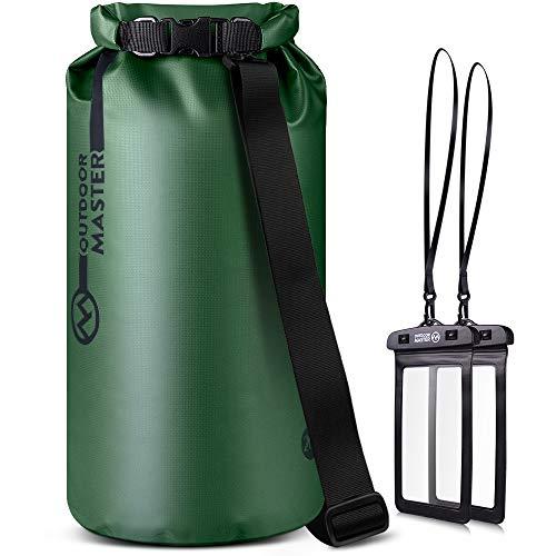 OUTDOORMASTER一年保証 ドライバッグ 防水バッグ プールバッグ 防災バッグ 20L 大容量 アウトドア用 スマホ用 防水ケース 二つおまけ 収納バック 防水リュック 防水ポーチ付 旅行袋
