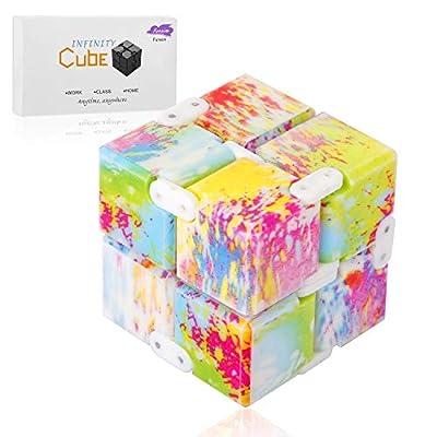 Funxim Infinity Cube Toy para Adultos y niños, versión Fidget Finger Toy Stress y Ansiedad, Killing Time Fidget Toys Infinite Cube para Office Staff de Shovan