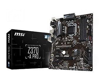 MSI PRO Series Intel 8th Gen LGA 1151 M.2 D-Sub DVI DP USB 3.0 Gigabit LAN CFX ATX Motherboard  Z370-A PRO