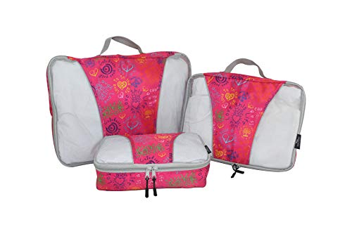 Mia Toro 3 Piece Packing Cubes, Multi, One Size