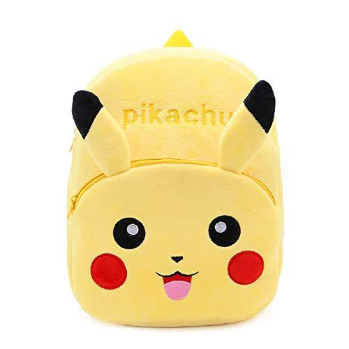 CHDJ Rucksack für Kinder im Alter von 4–6 Jahren Gelb Pikachu 4-6 Jahre