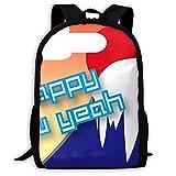リュックサック大容量バッグパック 初日の出と富士山とA Happy New Year 超軽量 創意柄 オシャレ通学通勤バッグ 面白い旅行バッグ 耐衝撃 撥水リュックサック メンズ レディース