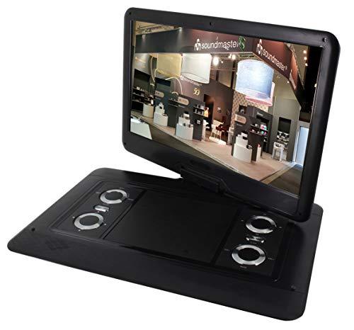 Soundmaster PDB1550SW tragbarer DVD-Player DVB-T2 HD-Tuner 15.6' TFT 64 Spiele