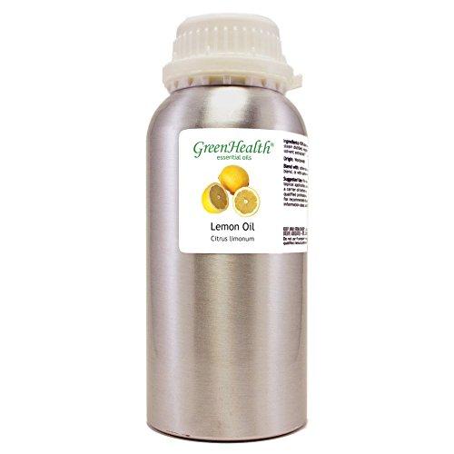 GreenHealth Lemon – 32 fl oz (946 ml) Aluminum Bottle w/Plug Cap – 100% Pure Essential Oil