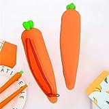 Mäppchen,gaddrt Etui Karotten-Silikon-Geschenk-Schule Kosmetik Makeup Aufbewahrungstasche Geldbörse
