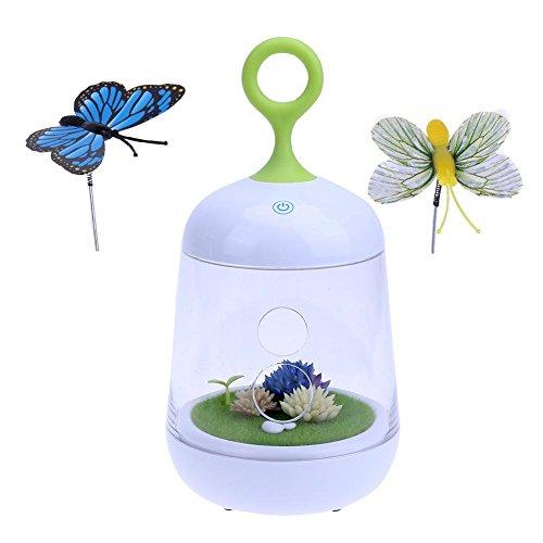 Luz de cultivo de plantas, micropaisaje para plantas, luces de mariposa recargables, para uso en maceta, para interiores o para invernaderos, vegetales, Seawang.