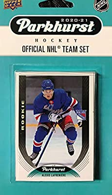 New York Rangers 2020 2021 Upper Deck Factory Sealed 10 Card Team Set Featuring Alexis Lafreniere Rookie Card #287, the #1 Overall Draft Pick