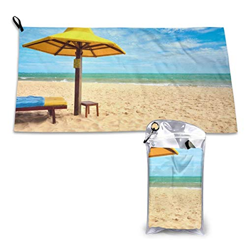 Durphel Sand Quick Dry Towel 15.7'' X 31.5'',Best for Gym Travel Camp Backpacking Yoga Fitness-101