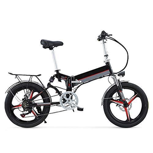 LZMXMYS Bici elettrica, 20' 350W Scomparsa/Acciaio al Carbonio Materiale Città Bici elettrica assistita elettrica di Sport della Bicicletta della Montagna della Bicicletta con 48V Batteria al Litio