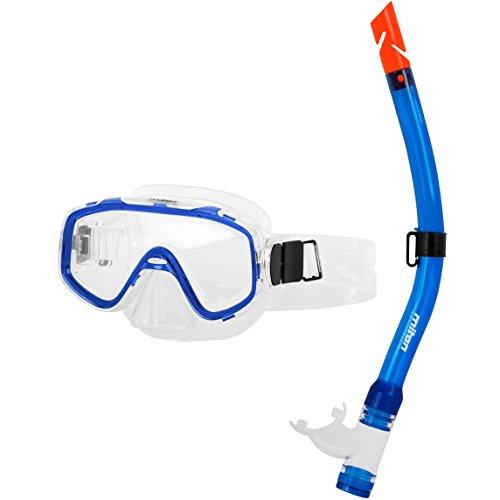 Miton kinderen duikbril junior snorkelset neptunblauw