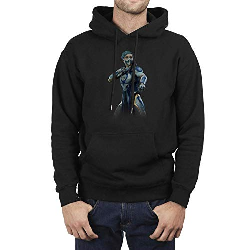 Mens Hooded Sweatshirt Kangaroo Pockets Mortal-Kombat-11-Frost-character- Hooded Sweatshirts Graphic Hoodies