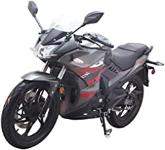 2020 Version 200cc Adult Gas Motorcycle Street Moped Scooter Lifan KPR 200 Fuel Injection Assembled(Black)