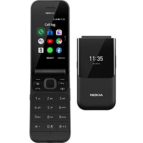 Nokia 2720 Telefono Cellulare 4G Dual Sim, Display 2.8' a Colori, 4GB, Tasti Grandi, Tasto SOS, Bluetooth, Fotocamera, Nero [Italia]