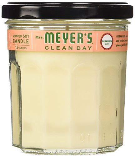 MRS Meyers Clean Day Candle Soy Geranium