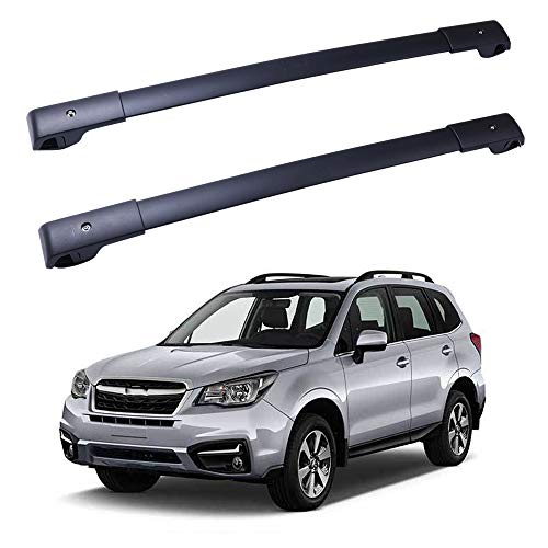 ROADFAR Roof Rack Aluminum Top Rail Carries Luggage Carrier Fit for 2014-2019 Subaru Forester Wagon 4-Door Baggage Rail Crossbars