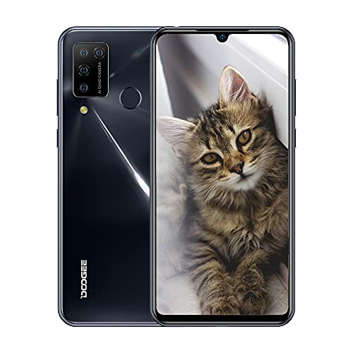 Doogee N20 Pro 4G - Telefono portatile, 6 GB RAM + 128 GB ROM, 16 MP + 8 MP + 2 MP, fotocamera Samsung di alta qualità, smartphone Streamer grigio