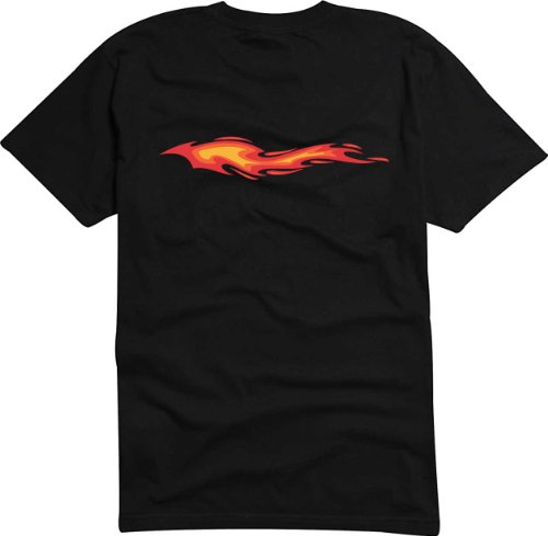 Black Dragon - T-Shirt Herren schwarz Tribal-Flammen mit Funken M
