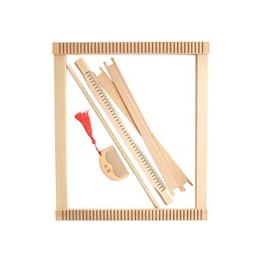 HEALLILY Weaving Loom Holzkunst Bastelstuhl Tapisserie Webset für Haushalt DIY Armband Halskette