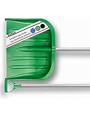 KADAX Schneeschaufel mit ergonomischem Griff, Blattbreite: 49 cm, Kunststoff-Blatt, Schneeschieber, ideale Schneeschippe für kleine und große Schneemengen, Schneeräumer, stabil