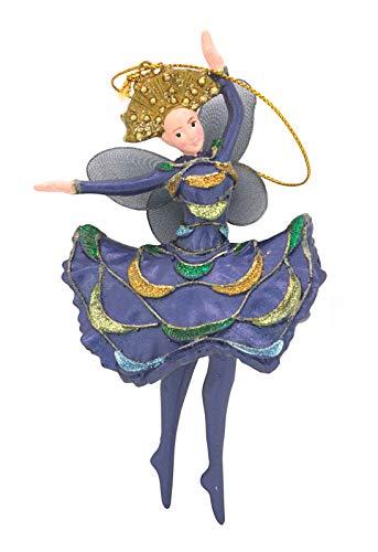 para Bailarina Bailarinas de Marfil Decoración de Navidad árbol de Navidad Azul Oscuro 15cm