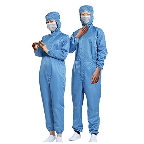 Abbigliamento Protettivo Isolante Da 10 Pezzi Tuta Da Laboratorio Riutilizzabile Anti-Sputo E Anti-Macchie Di Olio Impermeabile Per Uomini Adulti Donne (1 PCS, M)