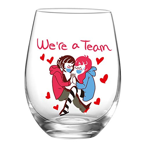 """(80% OFF) Stemless Wine Glass """"We're a Team"""" $3.19 – Coupon Code"""