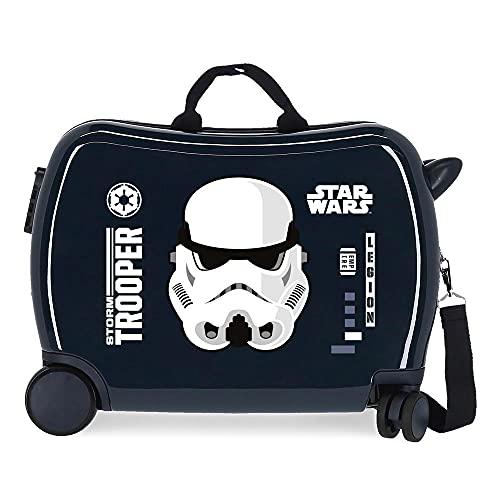 Star Wars Storm Maleta Infantil Azul 50x38x20 cms Rígida ABS Cierre de combinación lateral 34L 1,8...