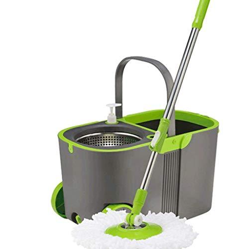 BBZZ Cabezal de fregona de microfibra de 360 grados de repuesto giratorio de fregona cabeza de fregona de cocina baño limpieza de superficie Spinning Floor Clean Tool