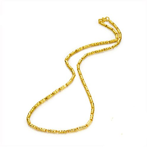 GOWE Woman Chain Necklace Real 24k Gold Fine Jewelry Wedding Engagement Gift Female Pure Gold Necklaces