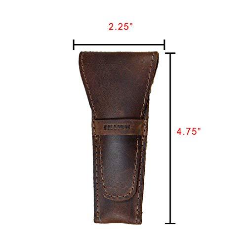 Hide & Drink, Leather Safety Razor Case, Shaving Accessories, Personal Care Essentials, Handmade :: Bourbon Brown