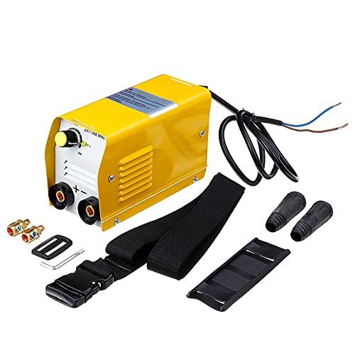 WXJWPZ ZX7-200 220V Mini 20A-200A Soldadora Eléctrica DC Inversor Soldador de Arco Soldadores Metal Amarillo 50-60Hz