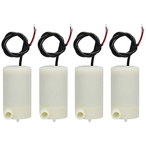 ACAMPTAR 4 Piezas 3 V 5 V -Sumergible Bomba de Agua Peceras Conjunto de Acuario Fuente