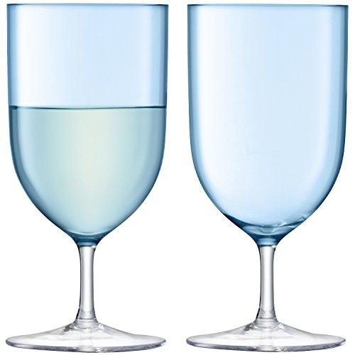 LSA International Hint Vin/Verre à Eau 400 ML X 2 pâle, Turquoise, 8 x 8 x 16.5 cm