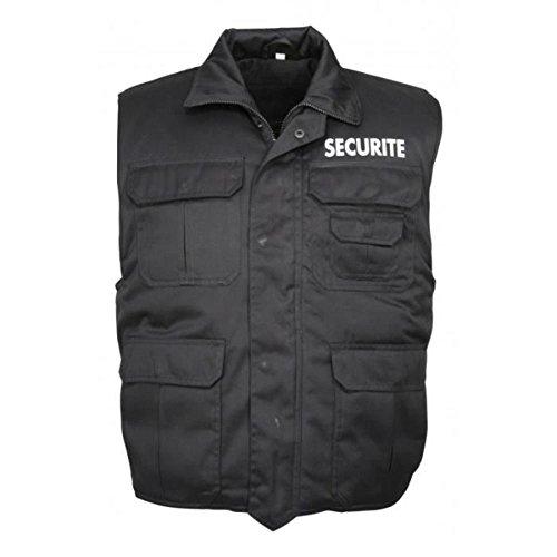 City Guard Gilet matelassé Rangers Noir SECURITE