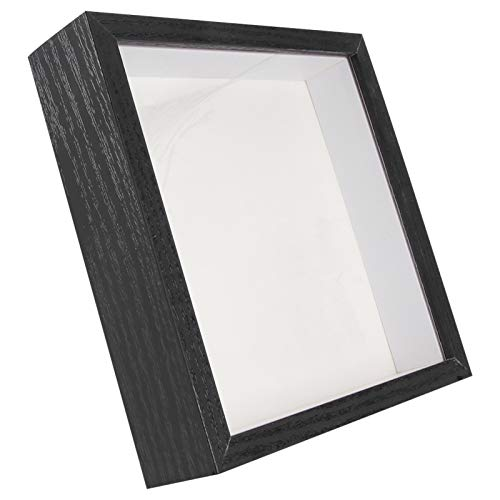 GARNECK Cuadro DE Fotos Profundo en 3D Caja de Sombra para Exhibición de Memoria Marco de Muestra para Muestras de Medallas Flores Frescas Papel de Peluche Trabajo Artístico 17. 8 * 17 8Cm
